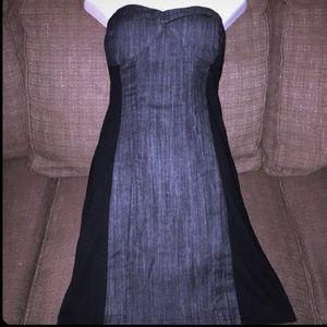 GUESS brand strapless denim mini dress